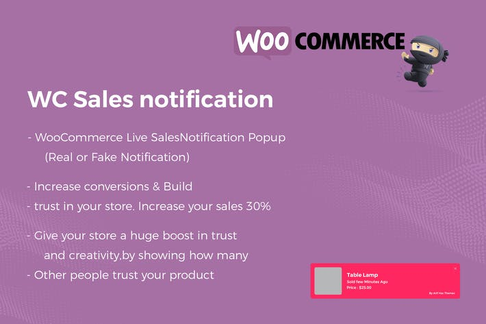 Thumbnail for Notification de vente en direct WooCommerce Pro