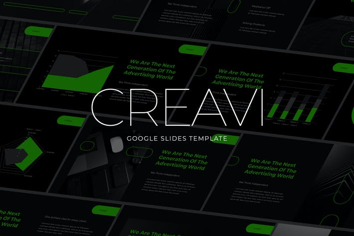 Cover Image For Creativa - Tech Theme Google Slides