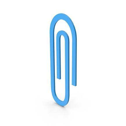 Symbol Paper Clip Blue
