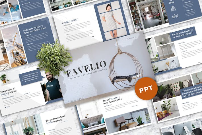 Thumbnail for Favelio – Creative Business PowerPoint Template