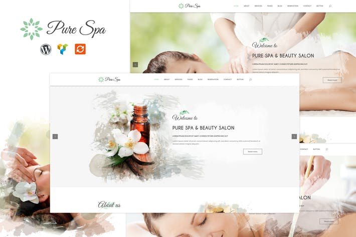 Thumbnail for Pure - Spa & Beauty Responsive WordPress Theme