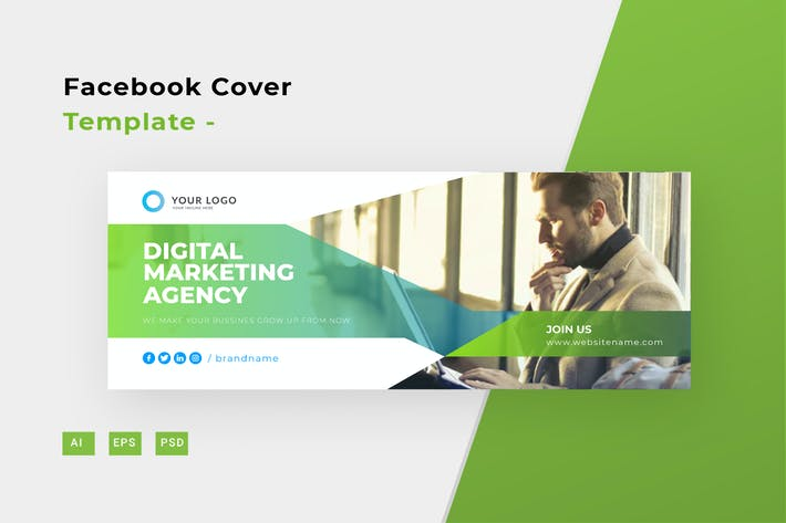 Digital Marketing Facebook Cover -
