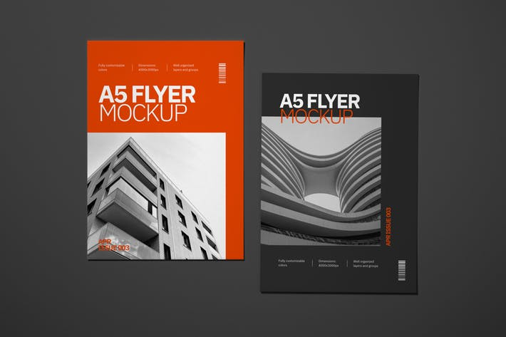 Thumbnail for A5 Flyer Mockup