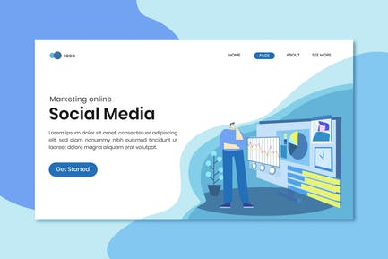 Marketing Online Social Media Landing Page