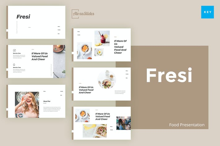 Thumbnail for Fresi - Food Keynote Template
