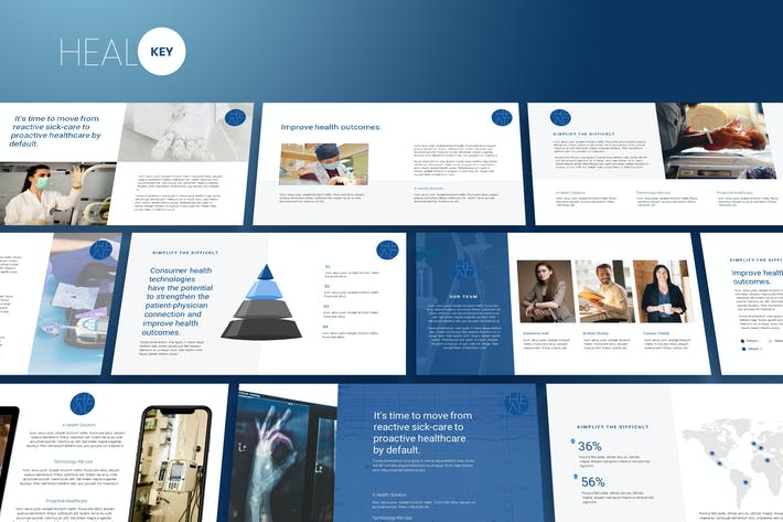 Heal - Medic Theme Keynote Template
