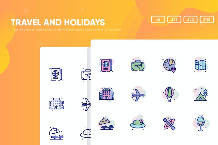 Thumbnail for Travel and Holidays Icon Pack