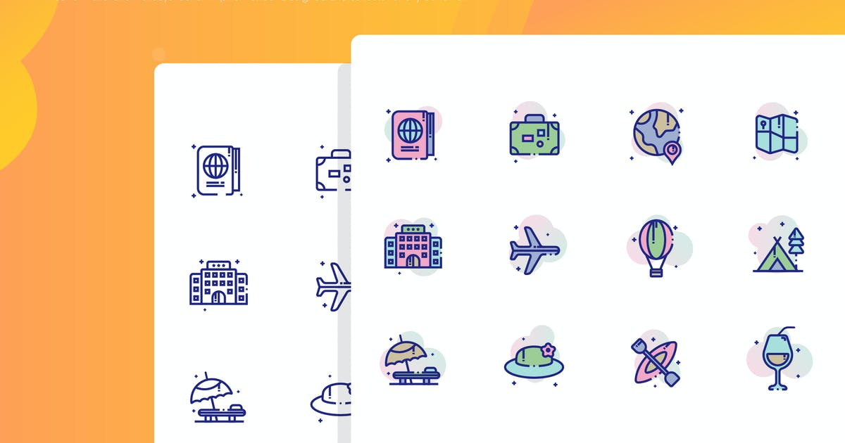 Download Travel and Holidays Icon Pack by inspirasign