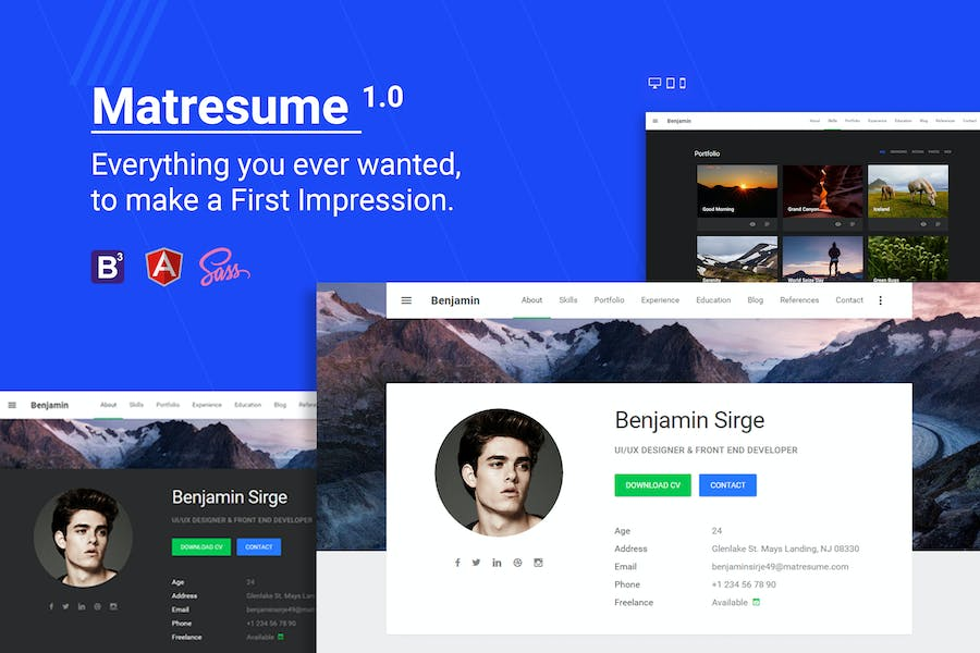 Matresume - Material Design Resume