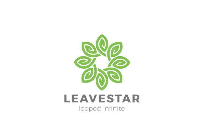 Thumbnail for Logo Flower Leaves Star Infinity Loop Leaf