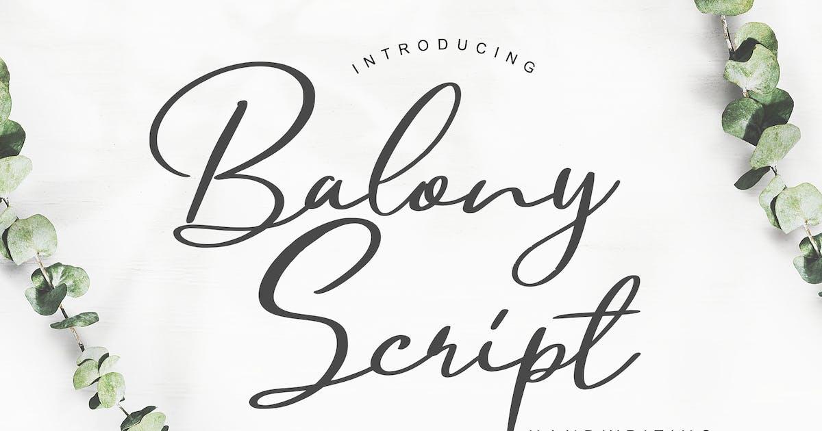 Download Balony Script Handwriting by RahardiCreative