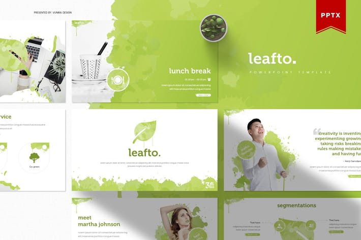 Thumbnail for Leafto | Powerpoint Template