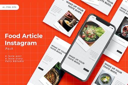 Food Article Instagram Stories & Post Pack