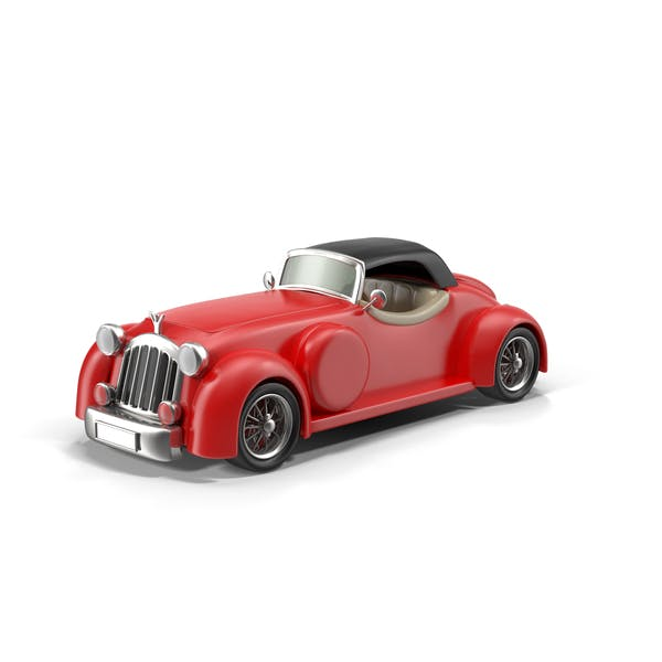 Cartoon Vintage Car