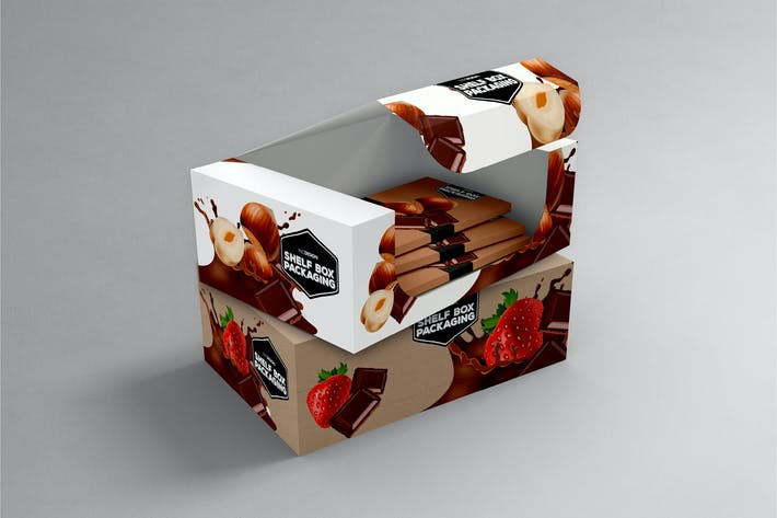 Cover Image For Retail Shelfbox 15 Packaging Mockup