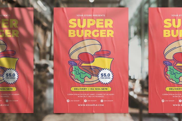 Thumbnail for Burger Promotion Flyer