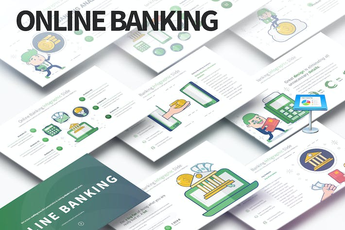 Thumbnail for Online Banking - Keynote Infographics Slides