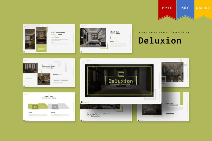 Thumbnail for Deluxion   Powerpoint, Keynote, Google Slides