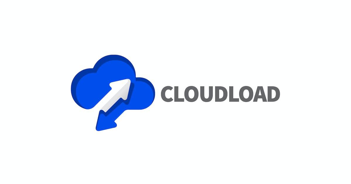 Download Modern Negative Space Cloud Storage Logo by Suhandi