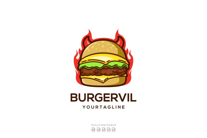 Burger Devil Food Logo
