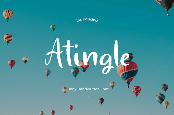 Thumbnail for Atingle - Handwritten Font