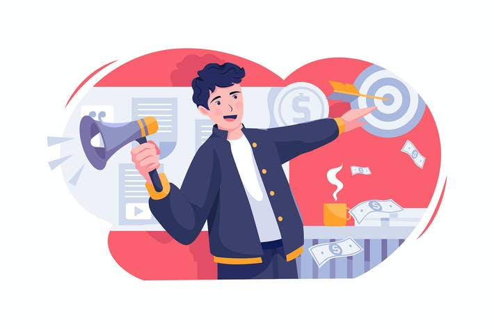 Thumbnail for Content Marketing vector Illustration concept.