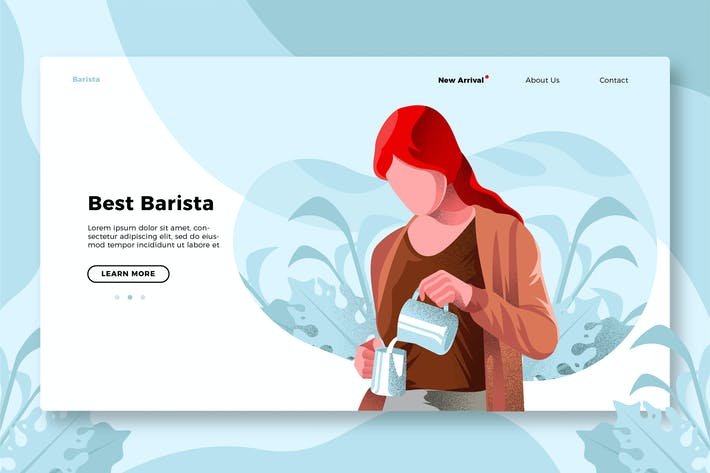 Thumbnail for Coffee Barista - Banner & Landing Page