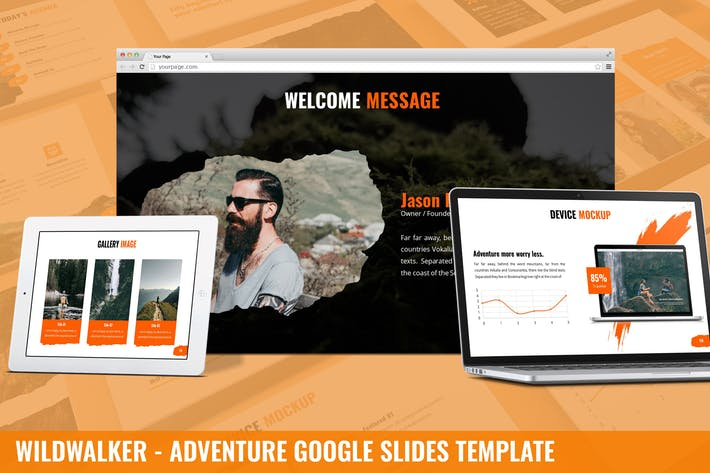 Wildwalker - Adventure Google Slides Template