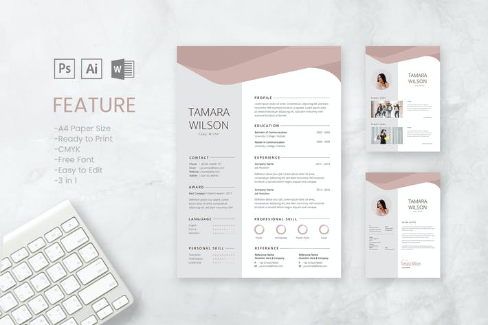 Thumbnail for Professional CV And Resume Template Tamara