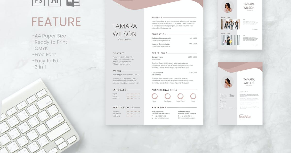 Download Professional CV And Resume Template Tamara by WPBootstrap