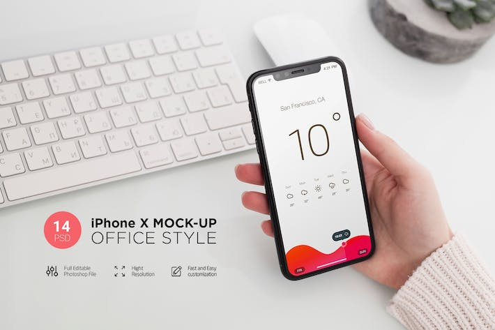Thumbnail for iPhone X Mock-Up Office Style