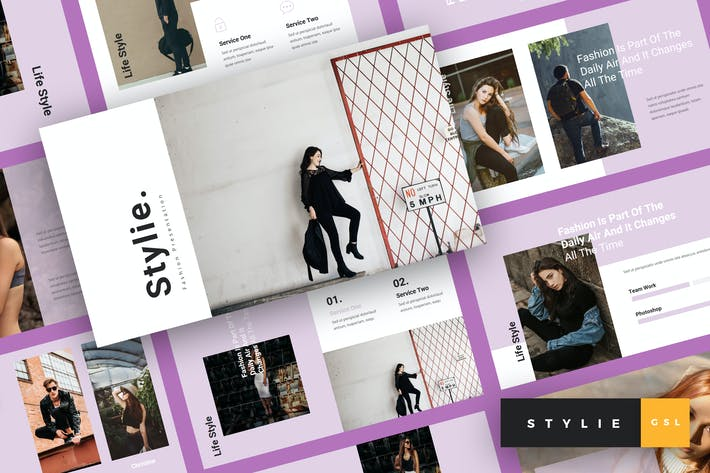 Thumbnail for Stylie - Fashion Google Slides Template