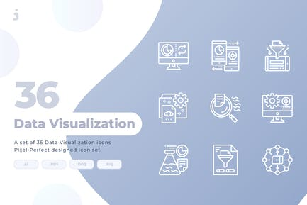 36 Data Visualization Icons