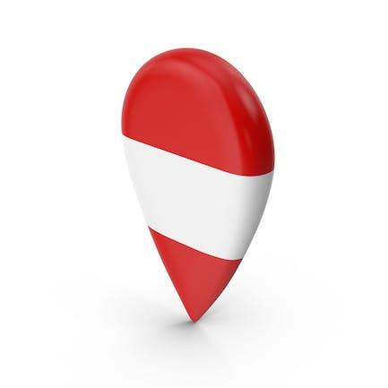 Österreich Travel Pin Flagge