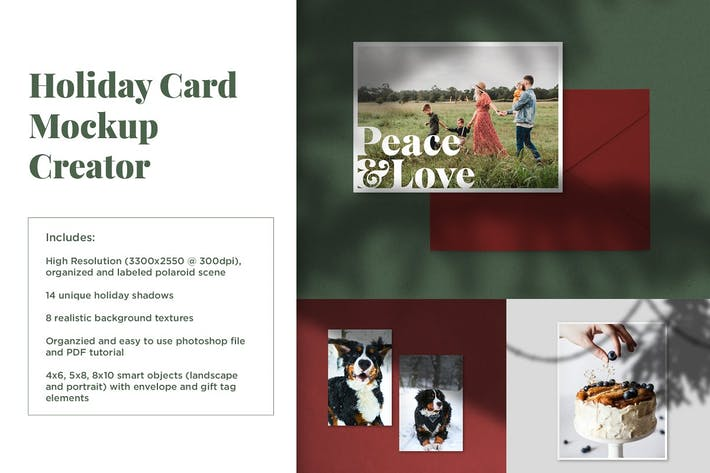 Thumbnail for Holiday Card Mockup Creator