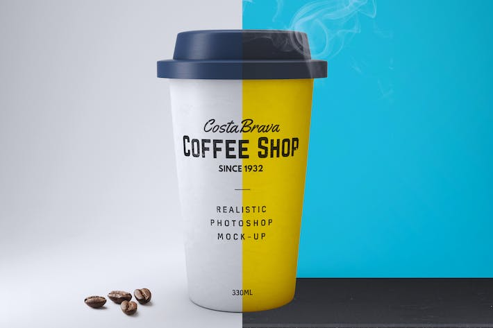 Cover Image For Realistic Paper Coffee Cup Mock-Up
