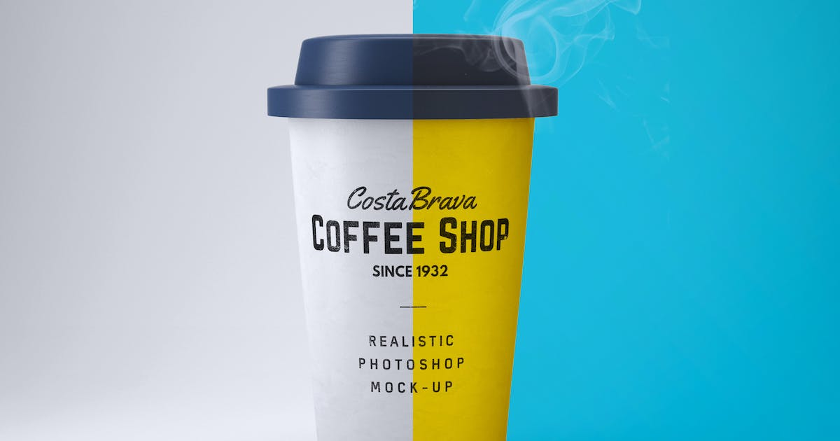 Download Realistic Paper Coffee Cup Mock-Up by EightonesixStudios