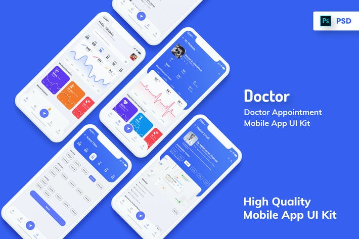 Thumbnail for Doctor Appointment Mobile App UI Light Version