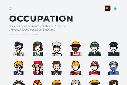 30 Beruf Icons