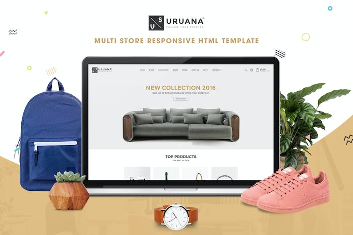Thumbnail for Uruana | Multi Store Responsive HTML Template
