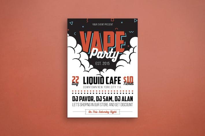 Vape Party Flyer