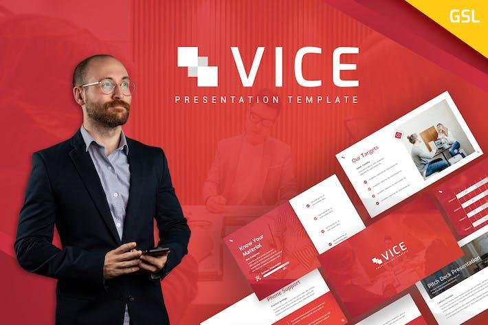 Thumbnail for Vice - Business Google PräsentationsVorlage