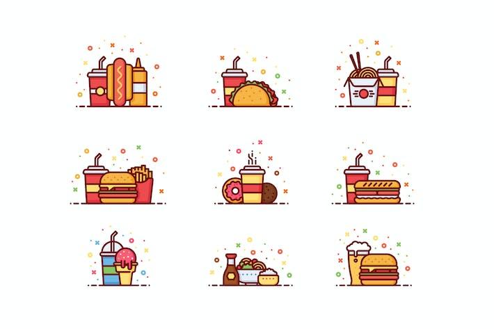 Thumbnail for 9 Fast-Food-Illustrationen