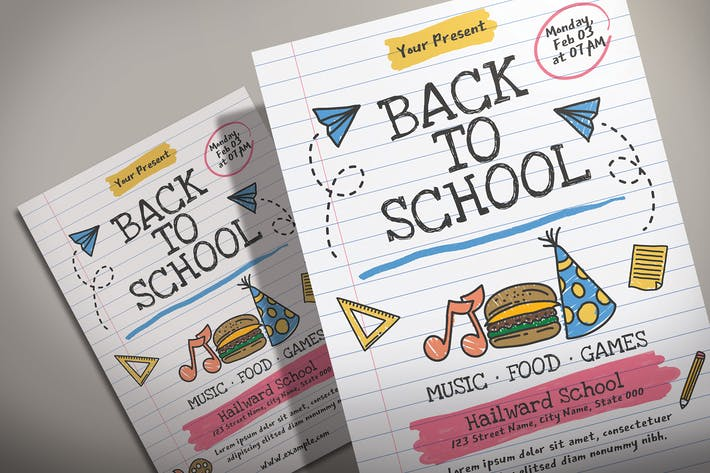 Thumbnail for Zurück zur schule - Flyer Vorlage