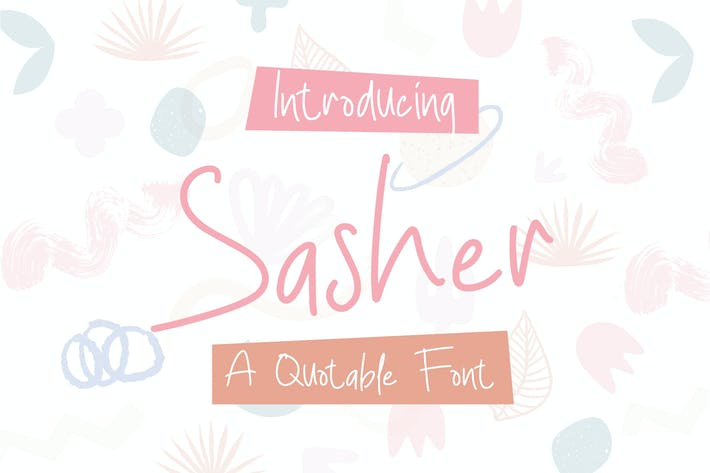 Thumbnail for Sasher - A Quotable Font