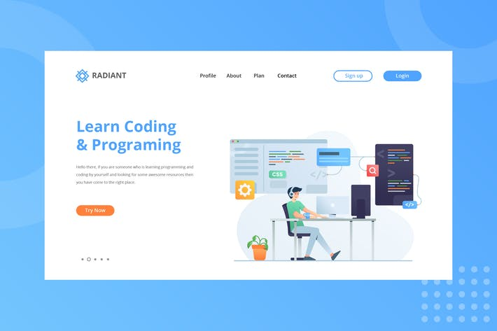 Thumbnail for Learn Coding & Programming Landing Page