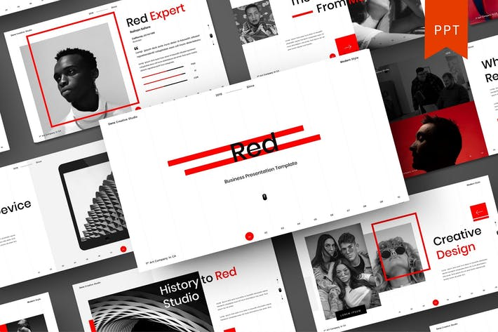 Red – Business PowerPoint Template