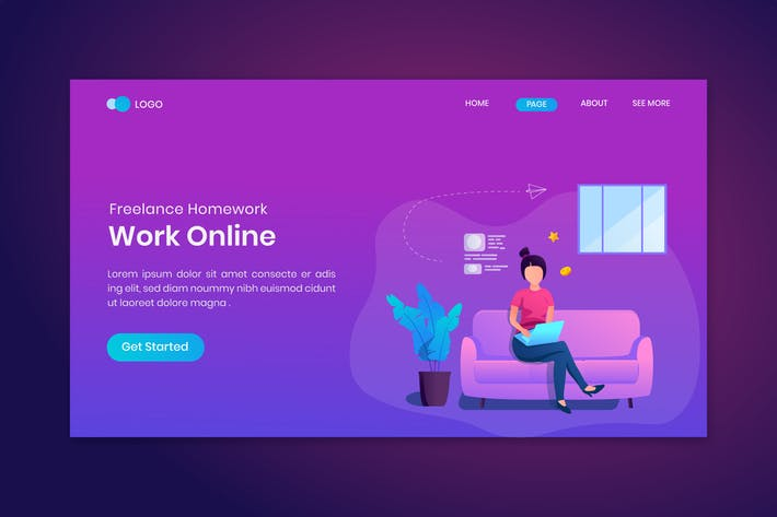 Work Online Freelance Homework On Landing Page