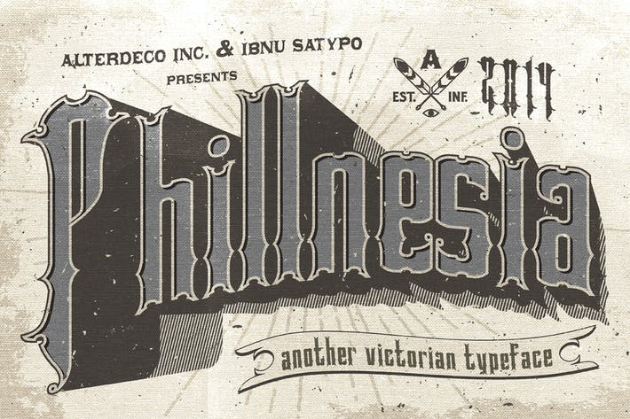 Cover Image For Phillnesia Typeface