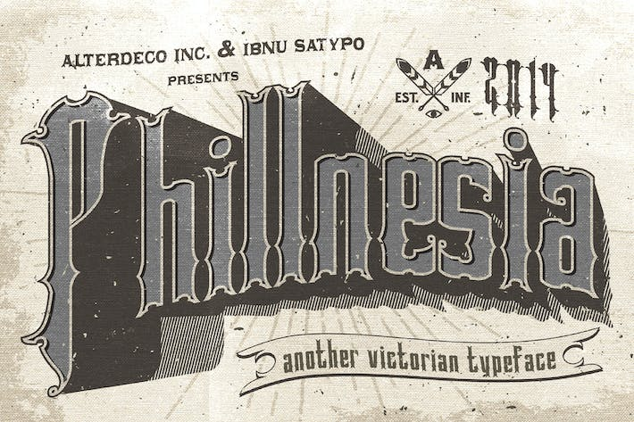 Thumbnail for Phillnesia Typeface